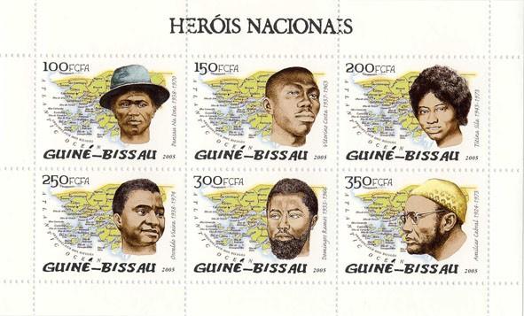 Herois Nacionais 6v - Issue of Guinée-Bissau postage stamps