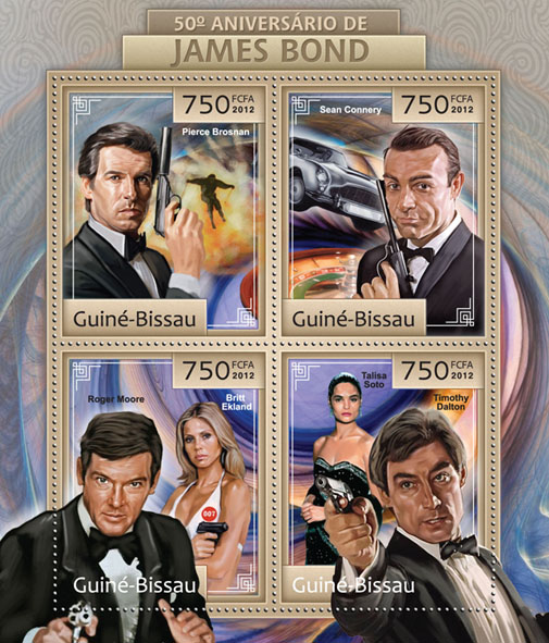 50th Anniversary of James Bond. - Issue of Guinée-Bissau postage stamps