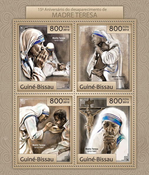 15th memorial Mother Teresa. - Issue of Guinée-Bissau postage stamps