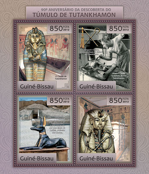 90th anniversary of the discovery of the Tomb of Tutankhamun. - Issue of Guinée-Bissau postage stamps