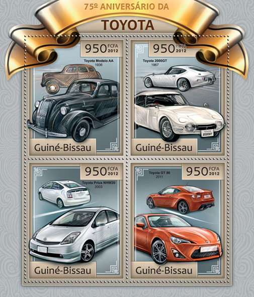 75th anniversary of Toyota. - Issue of Guinée-Bissau postage stamps