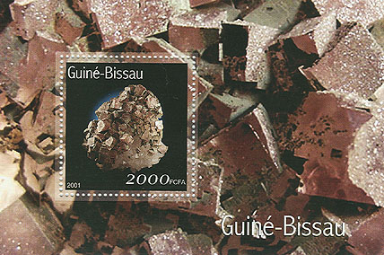 Mineraux - Minerals  S/S 2000 FCFA - Issue of Guinée-Bissau postage stamps