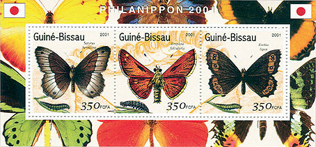 Papillons - Butterflies  S/S collectifs - Issue of Guinée-Bissau postage stamps
