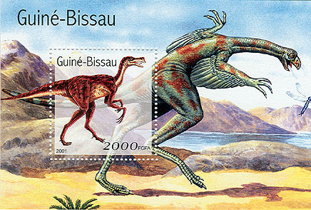 Dinosaures - Dinosaurs   S/S 2000 FCFA - Issue of Guinée-Bissau postage stamps