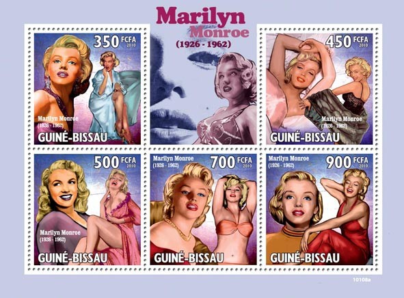 Marilyn Monroe ( 1926  1962 ) - Issue of Guinée-Bissau postage stamps