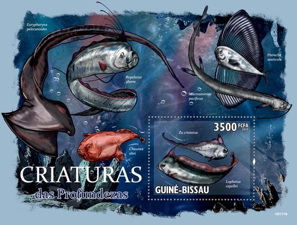 Creatures of the Ocean deep ( Fishes ) - Issue of Guinée-Bissau postage stamps