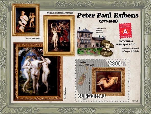 Paintings of Peter Paul Rubens ( 1577  1640 ) - Issue of Guinée-Bissau postage stamps