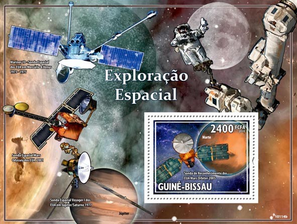 Astronautics ( Probes & Space ) - Issue of Guinée-Bissau postage stamps
