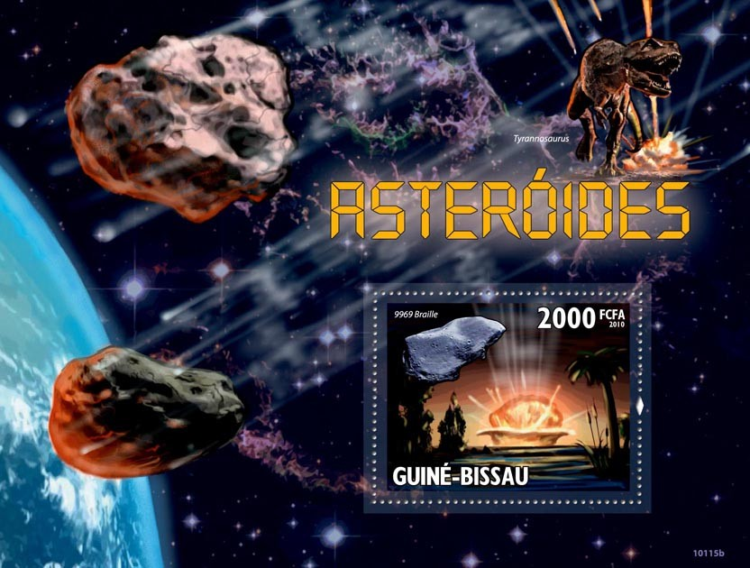 Asteroids - Issue of Guinée-Bissau postage stamps