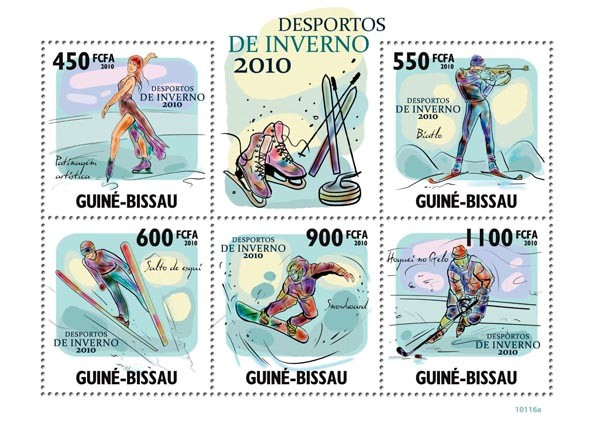 2010 Winter Sports - Issue of Guinée-Bissau postage stamps
