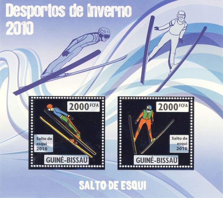 Sky Jumping - Issue of Guinée-Bissau postage stamps