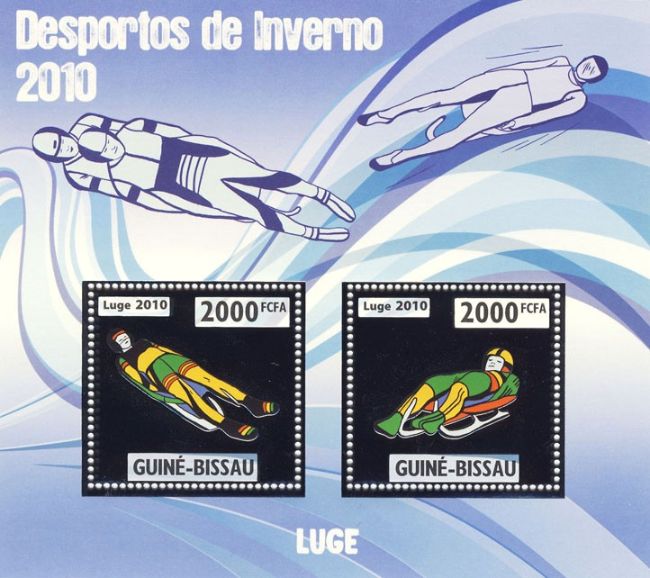 Luge - Issue of Guinée-Bissau postage stamps