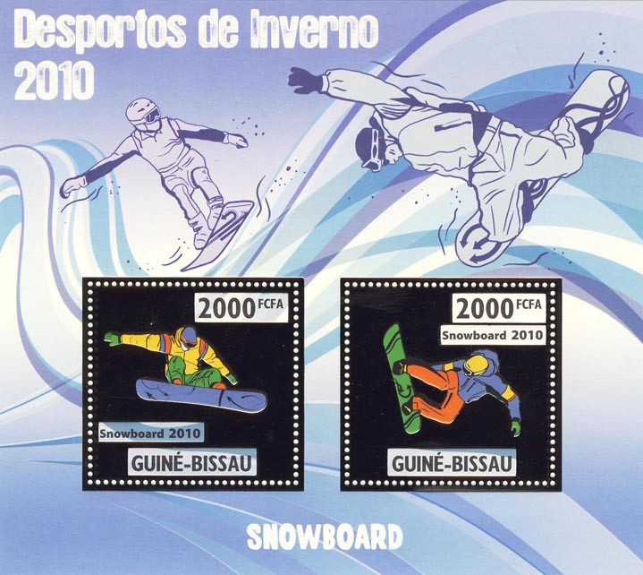 Snowboarding - Issue of Guinée-Bissau postage stamps