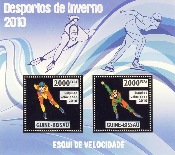 Speed Skiing - Issue of Guinée-Bissau postage stamps