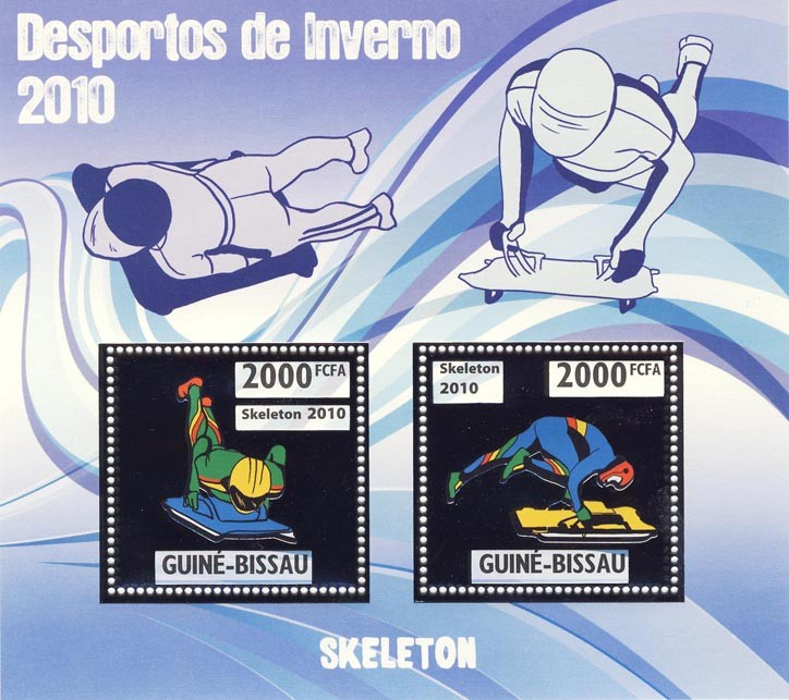 Skeleton - Issue of Guinée-Bissau postage stamps