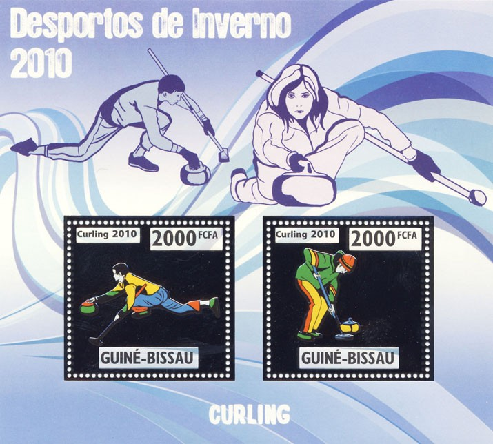 Curling - Issue of Guinée-Bissau postage stamps