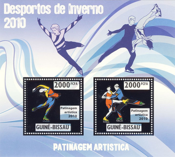 Figure Skating - Issue of Guinée-Bissau postage stamps