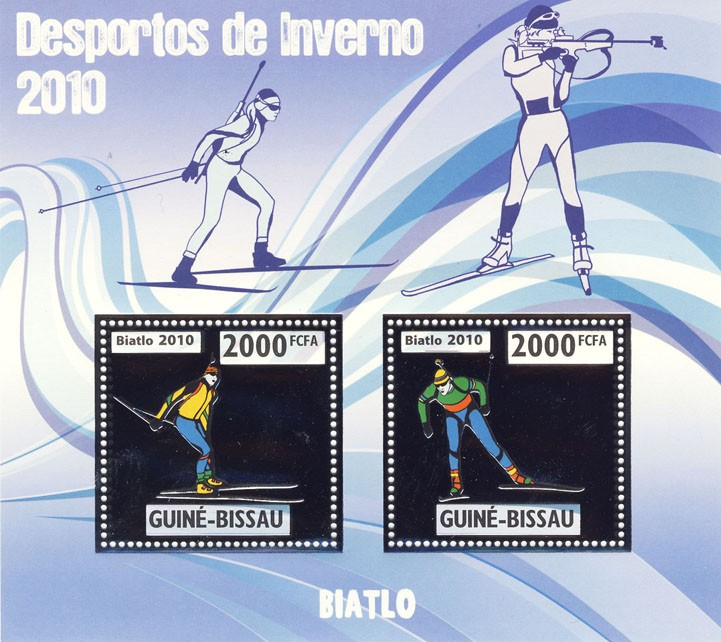 Biathlon - Issue of Guinée-Bissau postage stamps