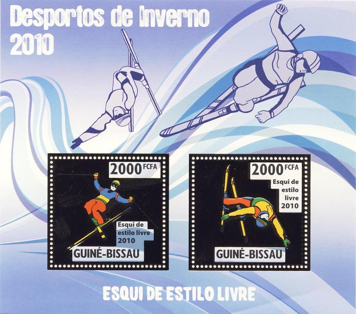 Freestyle Skiing - Issue of Guinée-Bissau postage stamps
