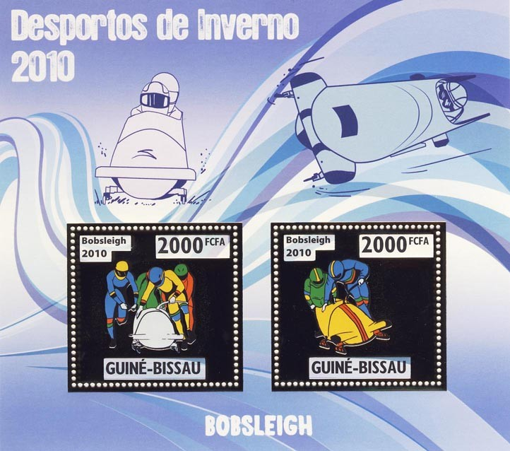 Bobsleigh - Issue of Guinée-Bissau postage stamps