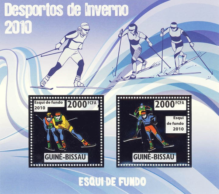 Cross Country Skiing - Issue of Guinée-Bissau postage stamps