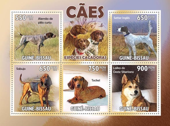 Hunting Dogs - Issue of Guinée-Bissau postage stamps
