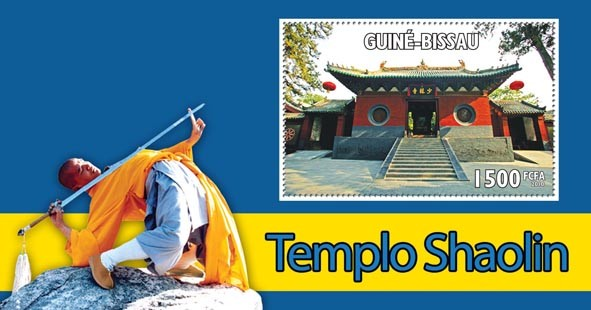 Temple of Shoaling?タᆵ - Issue of Guinée-Bissau postage stamps