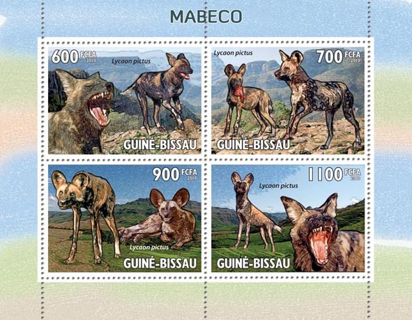 Wild Dogs  Mabec ?タᆵ - Issue of Guinée-Bissau postage stamps