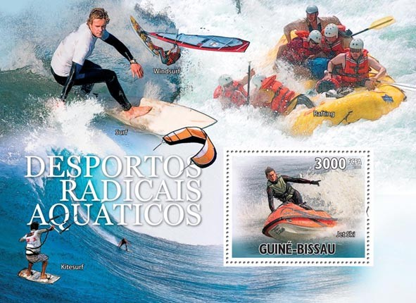 Extreme Water Sports. - Issue of Guinée-Bissau postage stamps