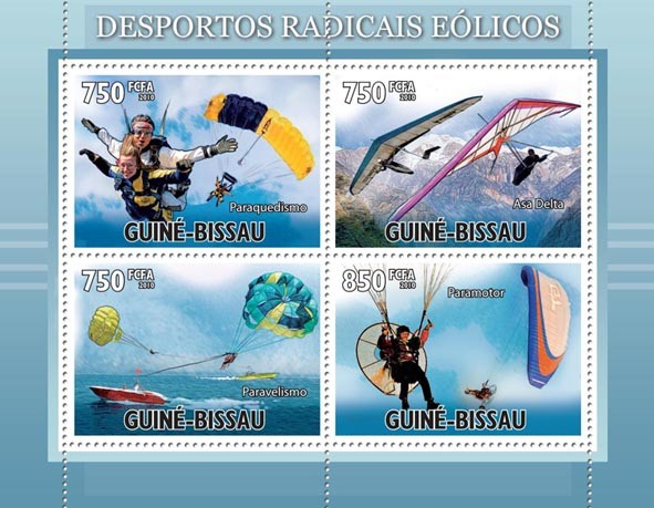 Extreme Wind Sports. - Issue of Guinée-Bissau postage stamps
