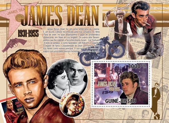 James Dean (1931-1955) - Issue of Guinée-Bissau postage stamps