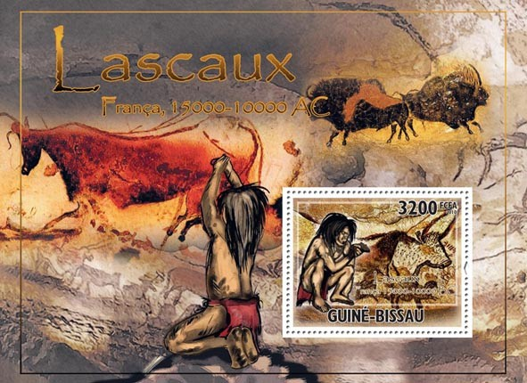 Cave of Lascaux - Issue of Guinée-Bissau postage stamps