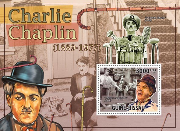 Charlie Chaplin ( 1889-1977). - Issue of Guinée-Bissau postage stamps