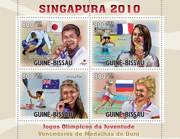 Singapore Youth Olympic Games 2010. - Issue of Guinée-Bissau postage stamps