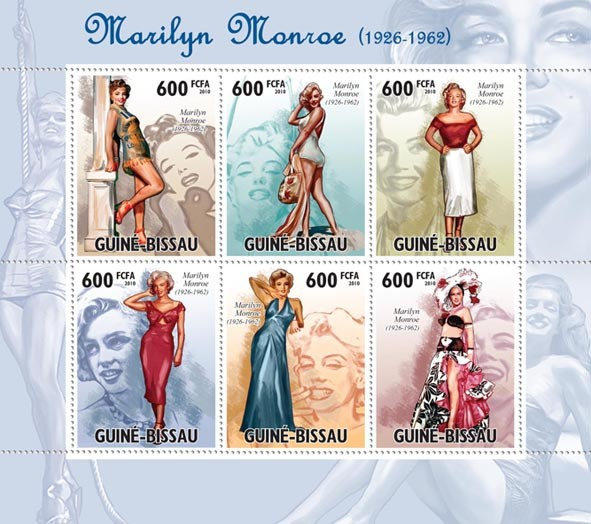 Marilyn Monroe (1926-1962) - Issue of Guinée-Bissau postage stamps