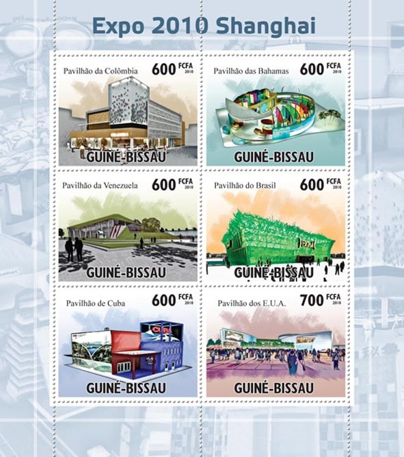 Shanghai Expo 2010. - Issue of Guinée-Bissau postage stamps