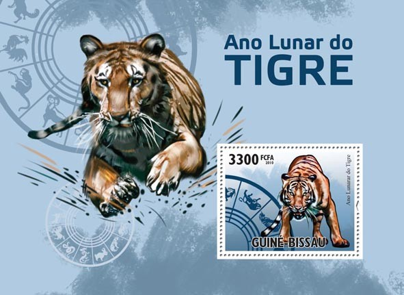 Chinese Year of the Tiger 2010. - Issue of Guinée-Bissau postage stamps