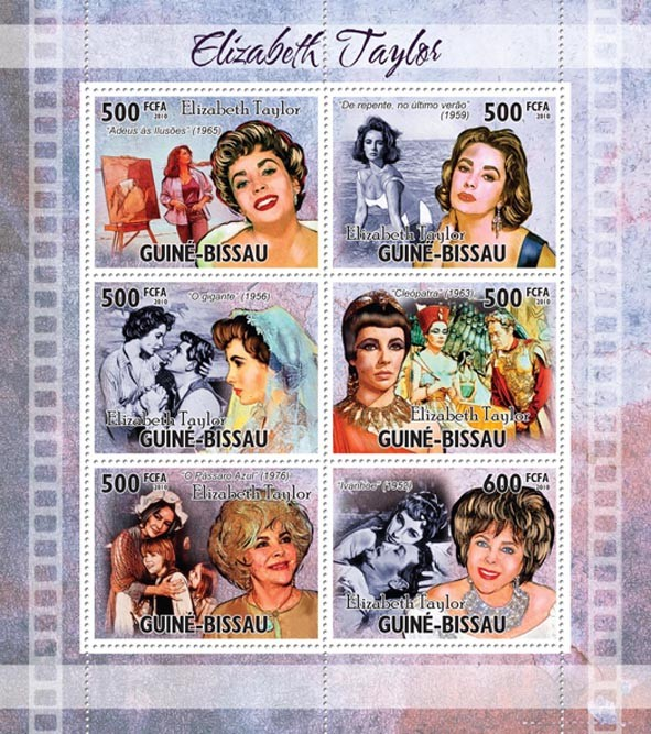 Elizabeth Taylor. - Issue of Guinée-Bissau postage stamps