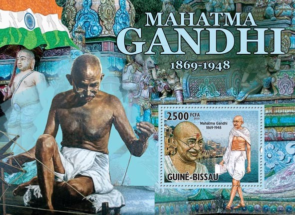 Mahatma Gandhi (1869-1948) - Issue of Guinée-Bissau postage stamps