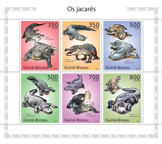 Alligators - Issue of Guinée-Bissau postage stamps