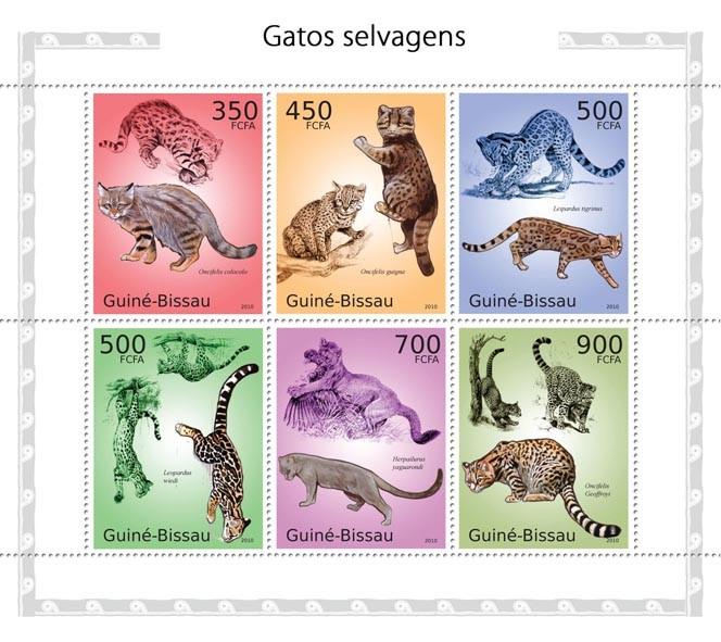 Felines - Issue of Guinée-Bissau postage stamps