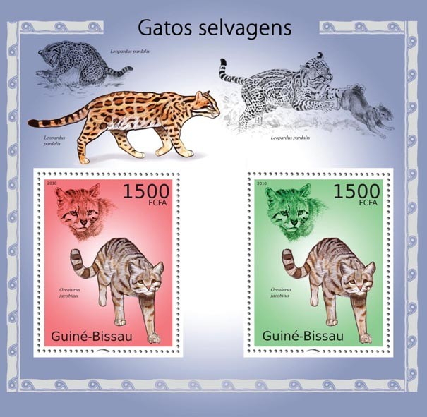 Felines - Issue of Guinée-Bissau postage stamps