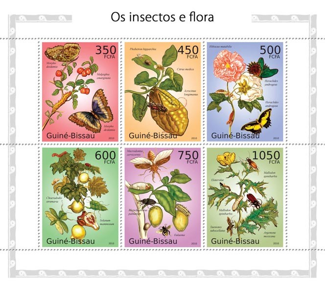 Insects & flora - Issue of Guinée-Bissau postage stamps