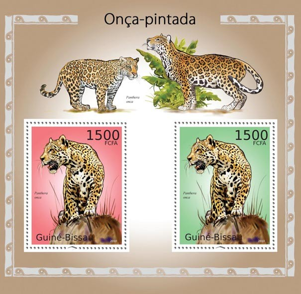 Jaguars - Issue of Guinée-Bissau postage stamps