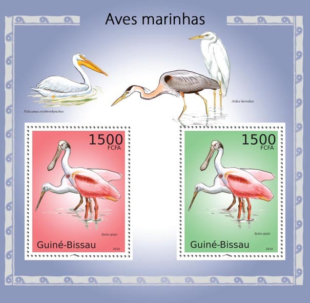 Seabirds - Issue of Guinée-Bissau postage stamps