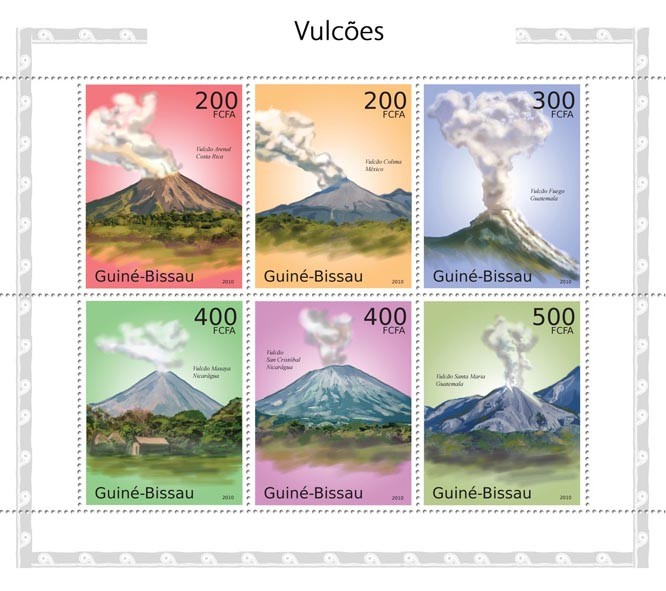 Vulcans - Issue of Guinée-Bissau postage stamps