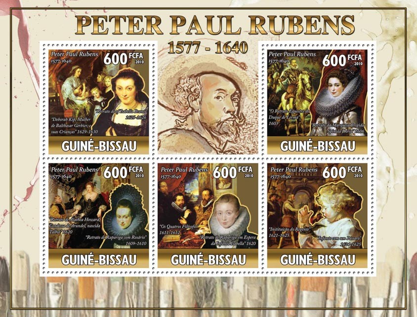 Art - 370th Death Rubens (1577-1640), (Paintings). - Issue of Guinée-Bissau postage stamps