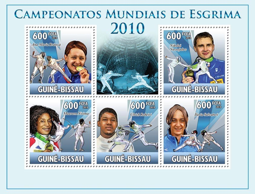 Fencing Sport. - Issue of Guinée-Bissau postage stamps
