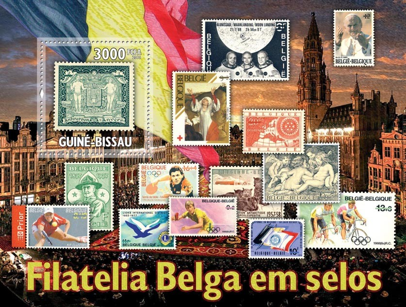 Belgium stamps in stamps - Issue of Guinée-Bissau postage stamps