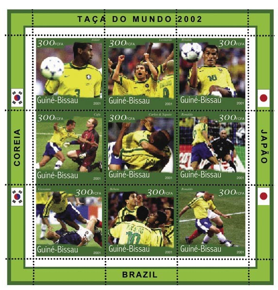 Brazil 9 x 300 FCFA - Issue of Guinée-Bissau postage stamps